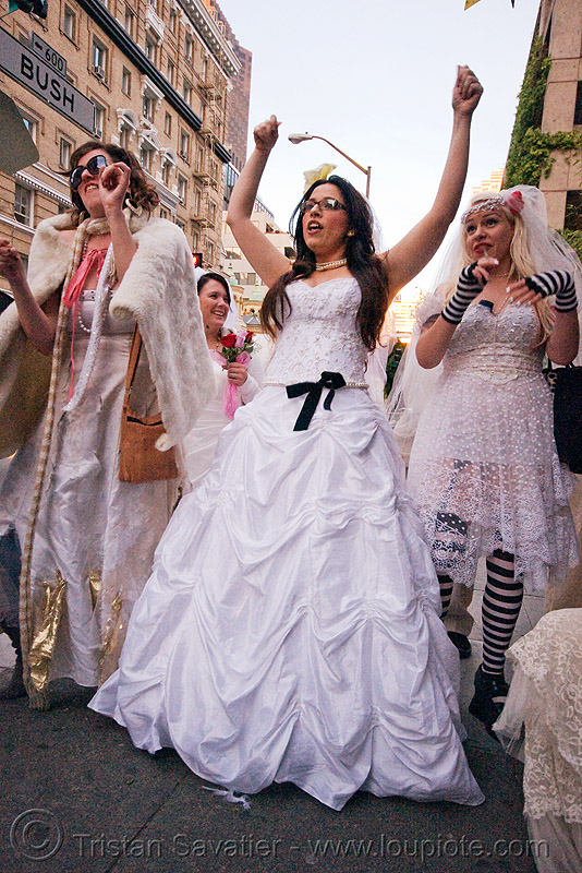 diana furka and other brides - brides of march (san francisco), festival, people, wedding, wedding dress, white, woman
