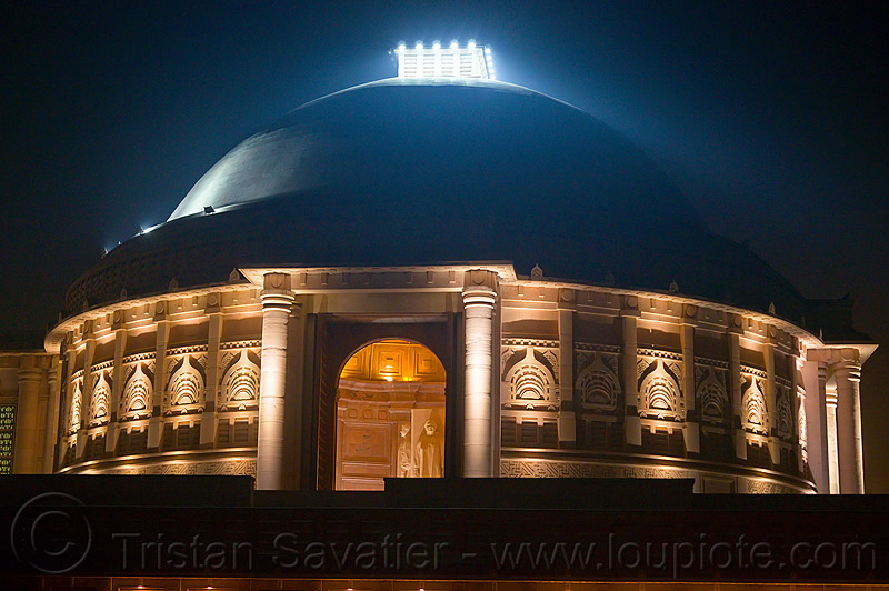 dome - ambedkar memorial, ambedkar park, architecture, building, dome, dr bhimrao ambedkar memorial, lucknow, monument, night
