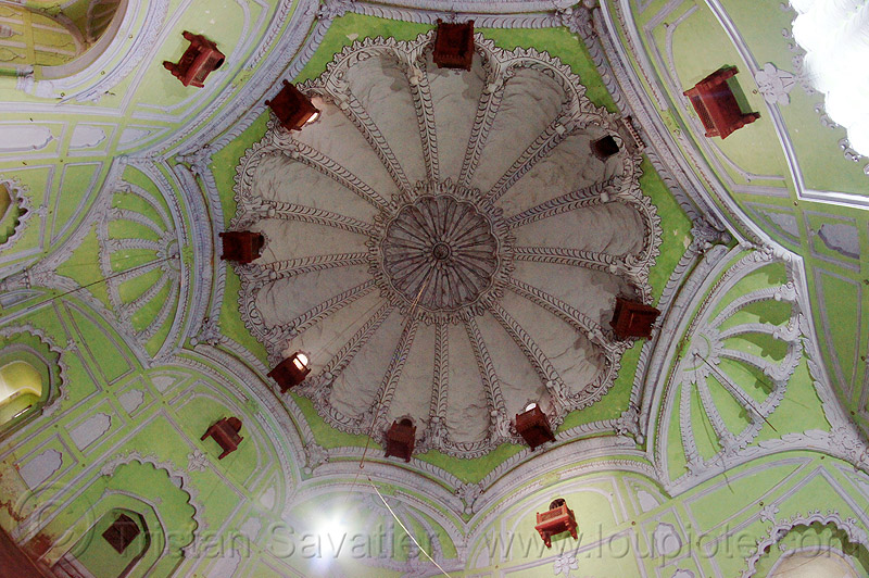 dome ceiling - bara imambara - lucknow (india), architecture, asafi imambara, islam, monument, shia shrine, vault