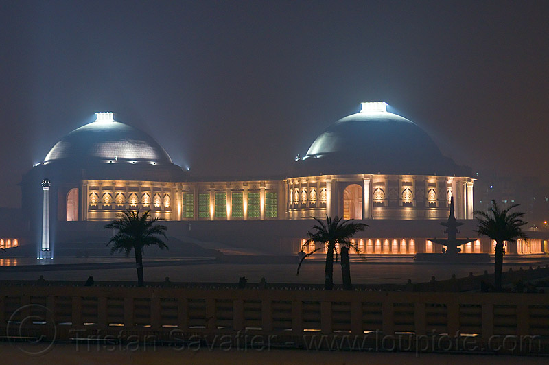 domes - ambedkar memorial, architecture, buildings, domes, dr bhimrao ambedkar memorial park, india, lucknow, monument, night