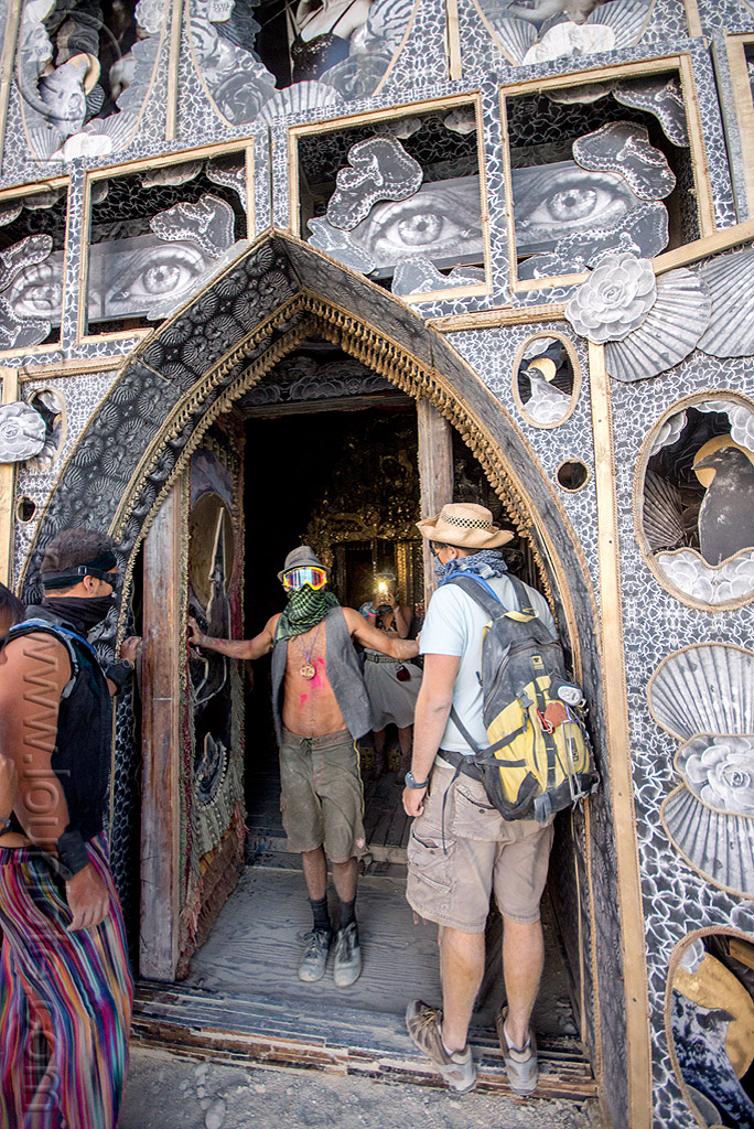 door of the totem of confessions - burning man 2015, art installation, burning man, door, men, michael garlington, totem of confessions