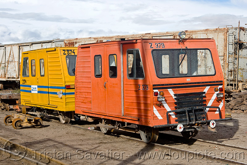 railroad speeders, dolly, draisines, enfe, fca, motorized, orange, rail trolley, railroad speeder, rails, railway, speeders, train, uyuni, yellow, z-374, z-379