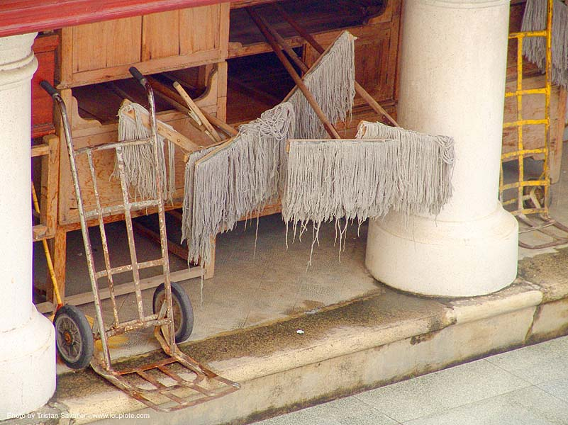 drying mops (thailand), mops, thailand