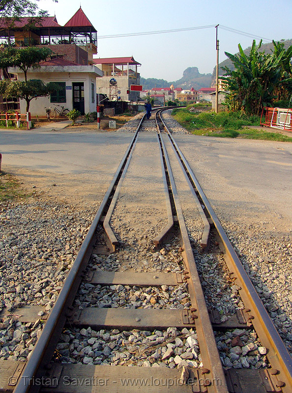 dual-gauge tracks - rails - vietnam, dual-gauge, lang sơn, mixed-gauge, rail tracks, railroad tracks, railway tracks, train tracks, vietnam