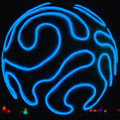 electro-luminescent wire - EL-wire, blue, burning man, el-wire, glowing, night