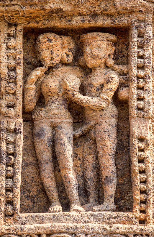 erotic sculpture - konark sun temple (india), carving, erotic sculptures, high-relief, hindu temple, hinduism, konark sun temple, maithuna, stone
