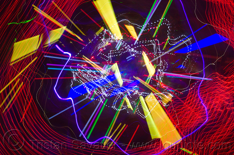 explosion of colors, abstract, club, color lights, disco lights, led lights, long exposure, new years eve 2011, night, nye, opel, opulent temple, strobes