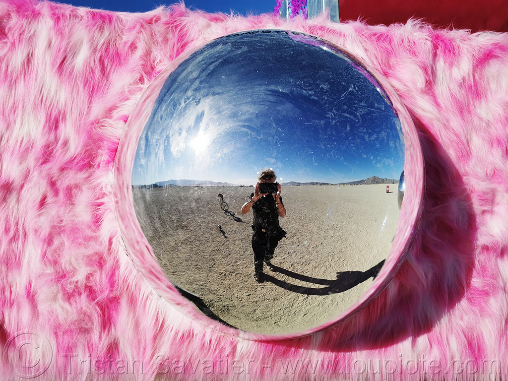 eye of BYTE - burning man 2019, art installation, burning man, byte, campbytethis, eye, fluffy, microchip, pink, sculpture, selfportrait