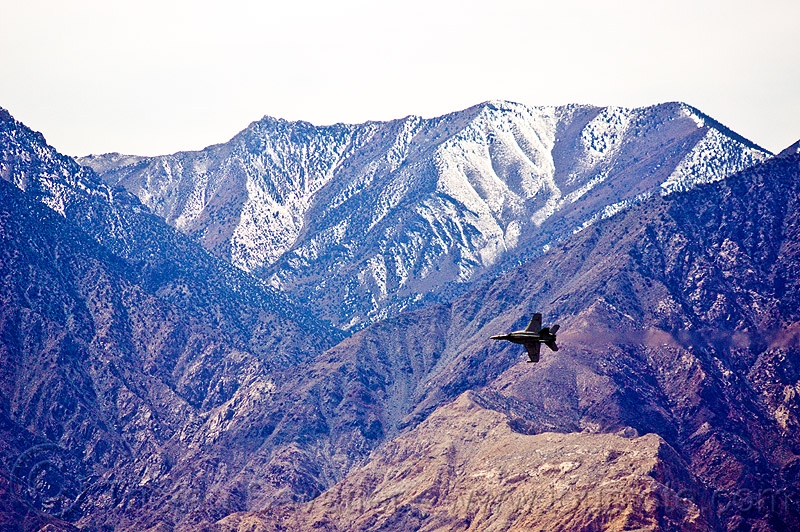 F/A-18 hornet in low altitude training, aircraft, army, death valley, f-18 hornet, f/a-18 hornet, fighter jet, fly-by, flying, inyo mountains, low altitude, military plane, saline valley, training, us air force