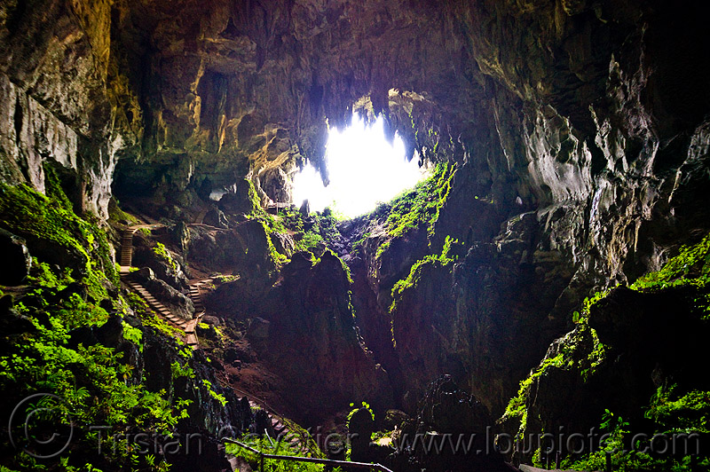 the fairy cave near kuching (borneo), backlight, bau, cave mouth, caving, fairy cave, natural cave, spelunking