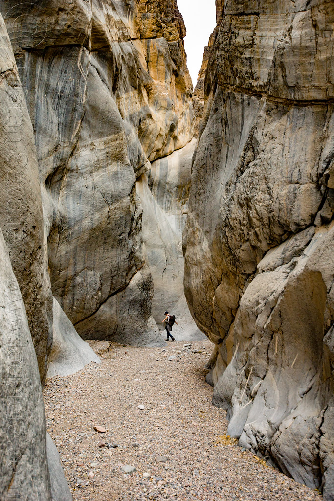 fall canyon - marble rock in the narrows - death valley national park (california), death valley, fall canyon, hiking, marble rock, narrows