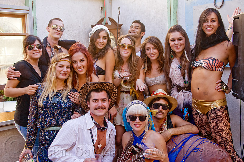 family photo, burning man decompression, people