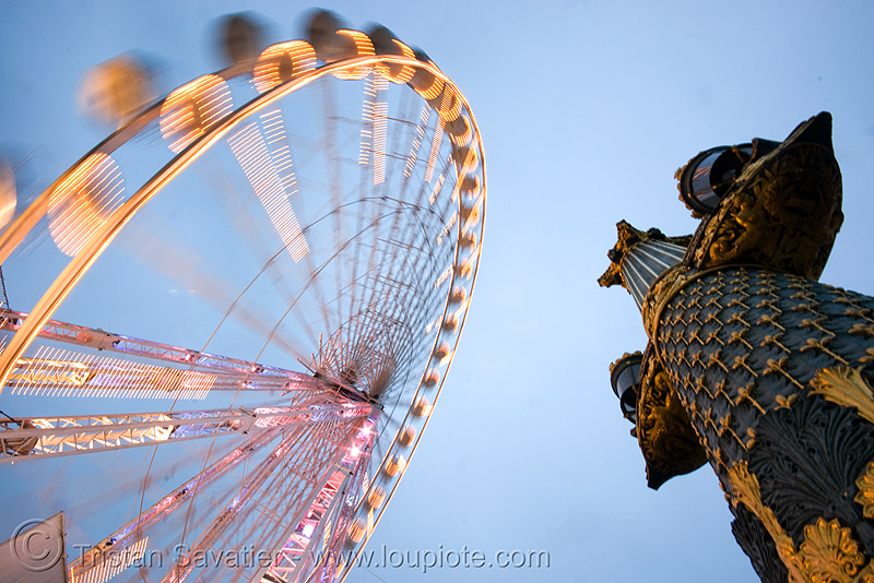 ferris wheel (grande roue) - place de la concorde (paris), moving, tuilleries