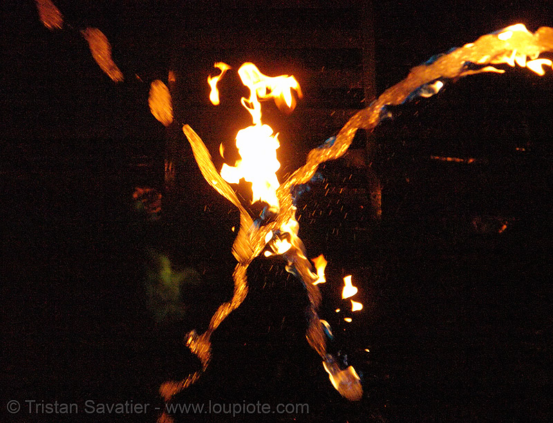 fire arts exposition 2006 - burning man, arch, burning man fire arts exposition, flames, fountain, karl nettmann, water, waterfire