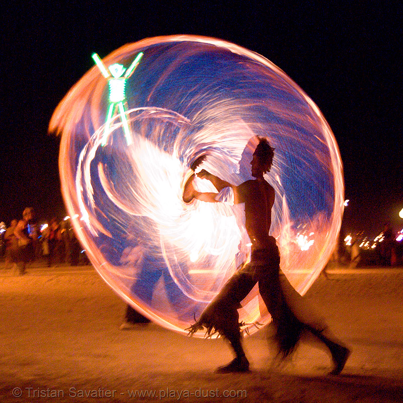 fire conclave - burning man 2007, burning man, circle, dai zaobab, fire conclave, fire dancer, fire dancing, fire performer, fire spinning, night of the burn, pyronauts of giza, ring, spinning fire
