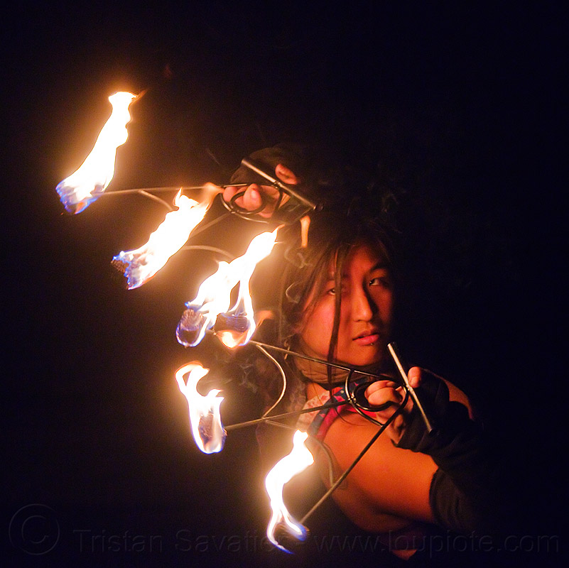 "fire dancer ""mel"" with fire fans, fire dancer, fire dancing, fire fans, fire performer, mel, night, woman"