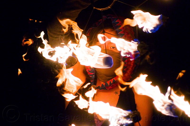 "fire dancer ""mel"" with fire fans, fire dancer, fire dancing, fire fans, fire performer, flames, mel, night, woman"