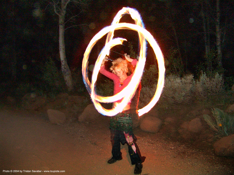 fire-dancer - rainbow gathering - hippie, fire dancer, fire dancing, fire performer, fire poi, fire spinning, hippie, night, spinning fire