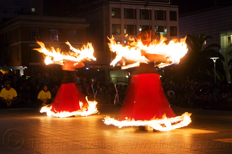 fire hoop dresses, fire dancer, fire dancing expo, fire dress, fire hoop dress, fire hoops, fire hula hoops, fire performer, fire spinning, flame, long exposure, night, spinning fire, temple of poi