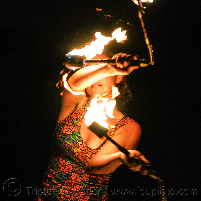 fire nunchaku, fire dancer, fire dancing, fire nunchaku, fire performer, fire spinning, night, sarah, woman