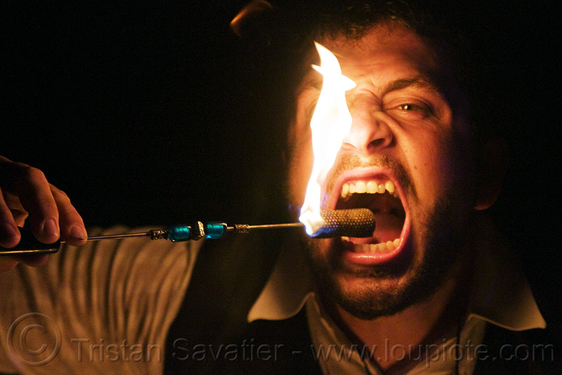 fire eater, eating fire, fire dancer, fire dancing, fire eating, fire performer, flames, mouth, night, people, teeth