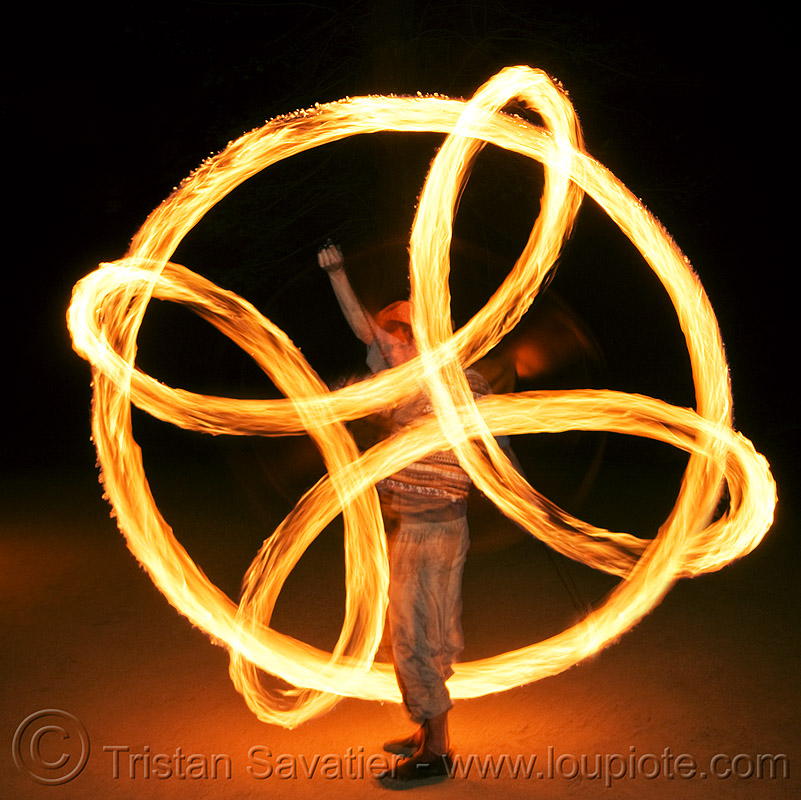 fire spinning - poi isolation, circle, fire dancer, fire dancing, fire performer, fire poi, fire spinning, flames, long exposure, man, nicky evers, night, ring, spinning fire