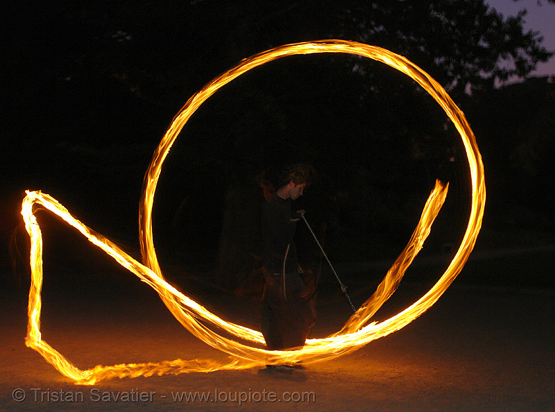fire spinning (san francisco), circle, fire dancer, fire dancing, fire performer, fire spinning, flames, long exposure, night, ring, spinning fire