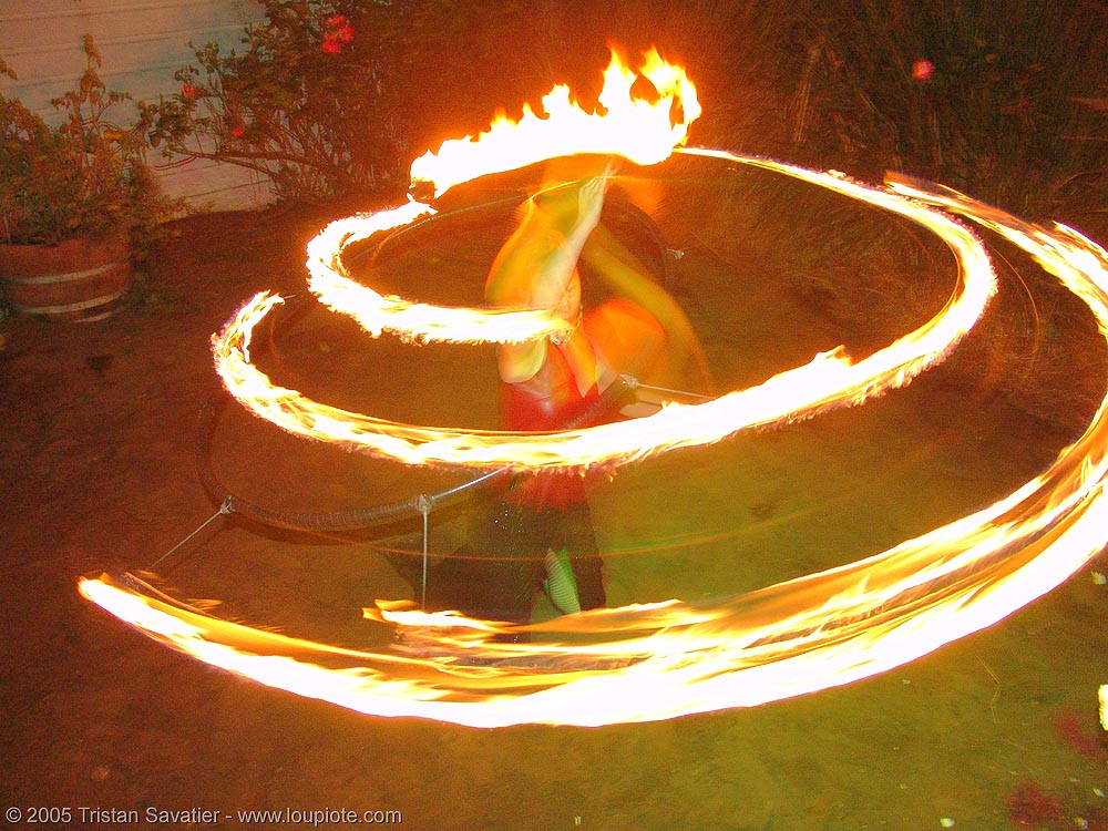 fire spiral, eden, fire dancer, fire dancing, fire hula hoop, fire performer, fire spinning, flames, hula hooping, long exposure, night, spinning fire, spiral