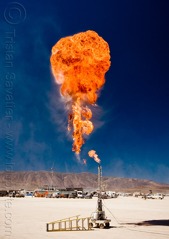 flamethrower - burning man 2010, fire ball, fire cannon, flame thrower, flames, fuel