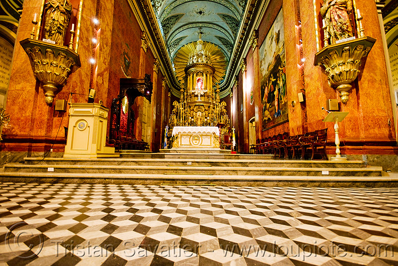 floor tiles - inside the salta cathedral (argentina), baroque, cathedral, church, floor, noroeste argentino, salta capital, tiles