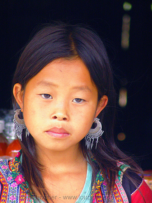 flower h'mong girl - vietnam, child, flower h'mong tribe, flower hmong, h'mong tribe, hill tribes, indigenous, kid, little girl, people, sapa, tribe girl