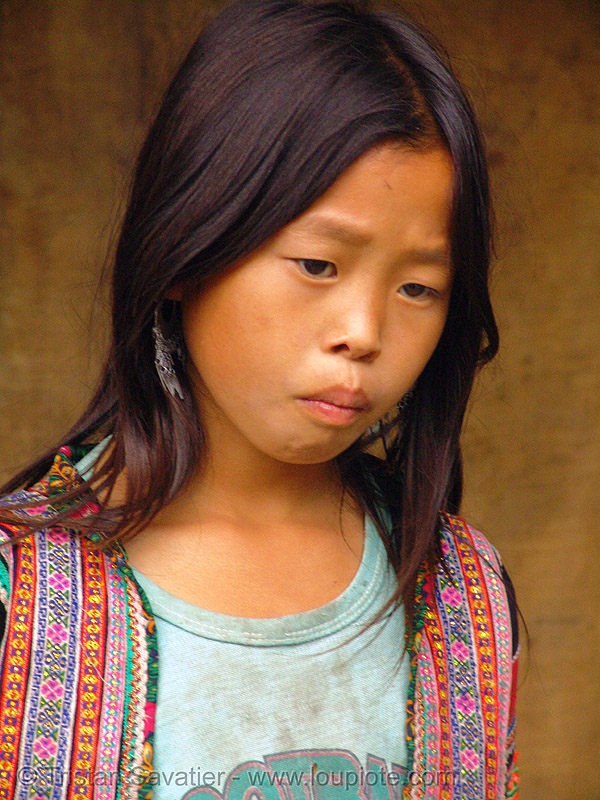 flower h'mong girl - vietnam, child, flower h'mong tribe, flower hmong, hill tribes, indigenous, kid, little girl, sapa, tribe girl, wonderful