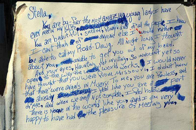 found love letter - stella, my road-dawg, found love letter, keith, lost, missouri, point lobos, road dawg, stella