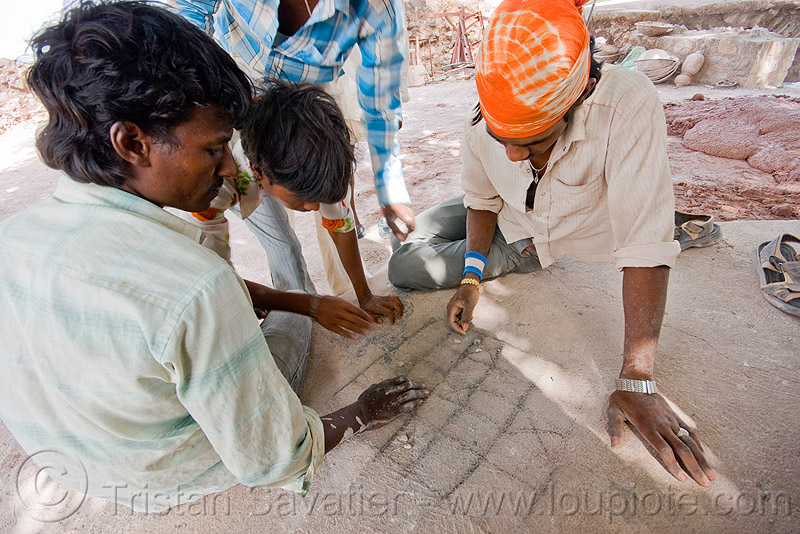 game played with dices and stones - mandu (india), mandav, people, playing