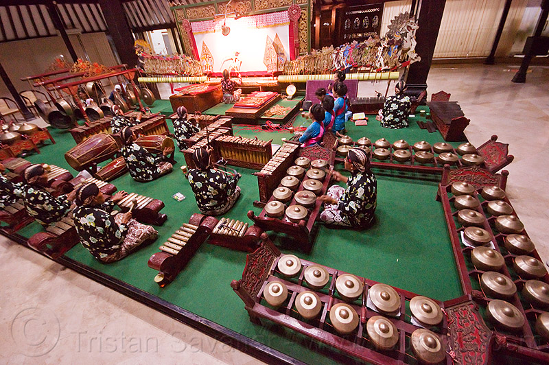 gamelan ensemble, drums, gamelan ensemble, gongs, java, jogja, jogjakarta, karawitan, kendang, men, metallophones, music, musical, orchestra, percussion, players, playing, shadow play, shadow puppet theatre, shadow puppetry, shadow puppets, shadow theatre, sitting, wayang kulit, women, xylophones, yogyakarta