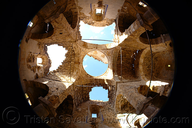 georgian church ruin (turkey), byzantine, fisheye, georgian church ruins, orthodox christian