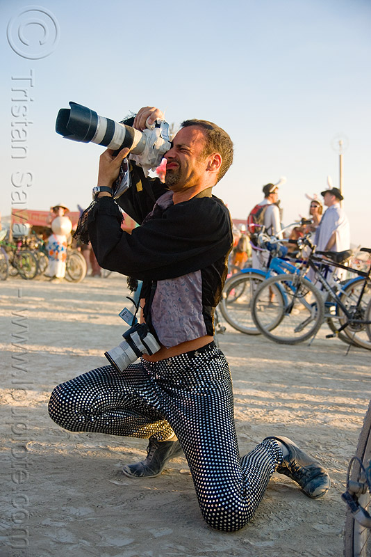 german photographer - hannes - burning man 2009, camera, zoom lens