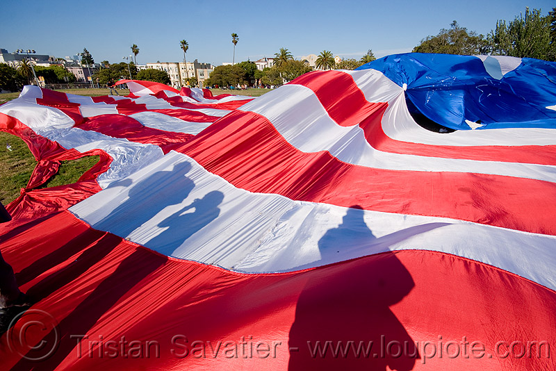 giant american flag - dolores park (san francisco), american flag, giant flag, the flag project, us flag