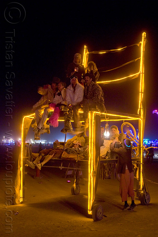 giant chair art car, art car, burning man, chairman of the bored, giant chair, mutant vehicles, night, pete day, sitting