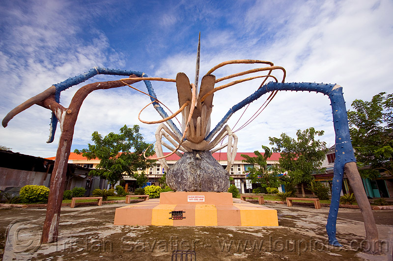 shrimp monument, art, beluran, claws, giant prawn, giant shrimp, jumbo prawn, landmark, langouste, lobster mutiara, monument, rock lobster, sculpture, spiny lobster