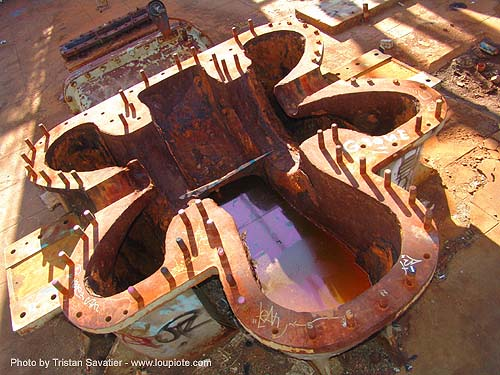 giant turbine manifold, abandoned, decay, industrial, power station, trespassing, urban exploration