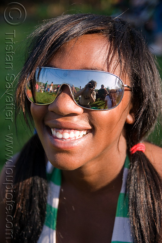 girl with mirror sunglasses, maria, mirror, reflection, sunglasses, woman
