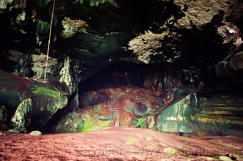 huge chamber in natural cave (borneo), caving, natural cave, niah caves, pathway, spelunking, walkway