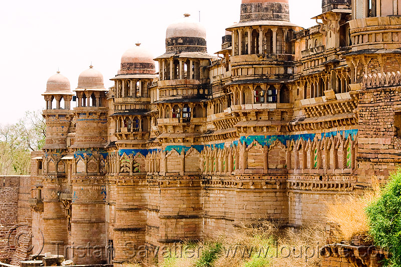 gwalior fort (india), architecture, fort, fortifications, fortified wall, fortress, gwalior, india, mansingh palace, towers, ग्वालियर क़िला