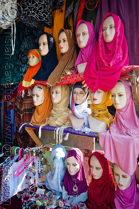 hijabs, heads, hijab, islam, islamic fashion, muslim, serikin, shop, store dummies, street market, women's apparel, حجاب