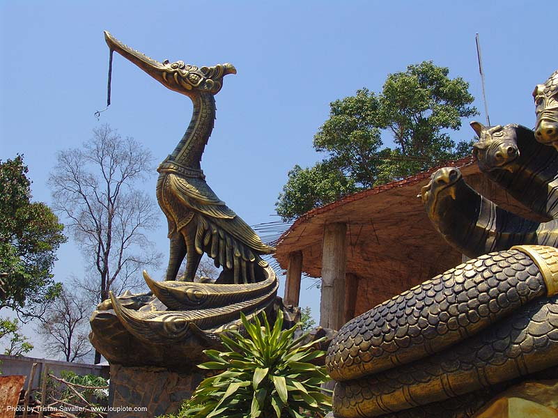 hindu park near phu ruea, west of loei (thailand), brass, hindu, hinduism, sculptures, thailand