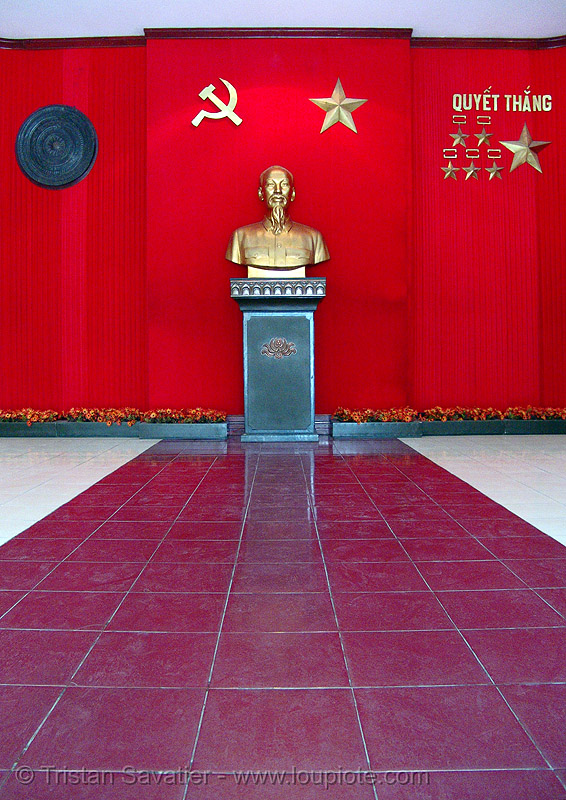 ho chi minh memorial - vietnam, army museum, bust, communism, hammer and sickle, hanoi, ho chi minh, monument, red, sculpture, star, statue, vietnam
