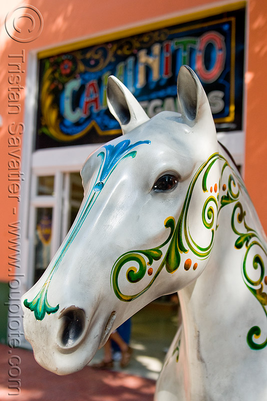 horse sculpture - painted, buenos aires, decorated, el caminito, horse, la boca, painted, sculpture