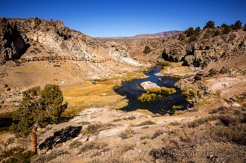 hot creek (california), california, eastern sierra, hot creek, hot springs, long valley caldera, mammoth lakes, river, water