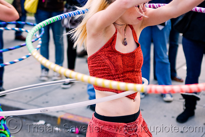 hula hooper with two hulahoops - cressie mae (san francisco), festival, how weird festival, hula hoop, people, woman